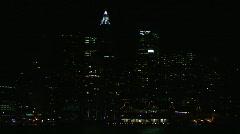 Manhattan downtown pier 17 night10 Stock Footage
