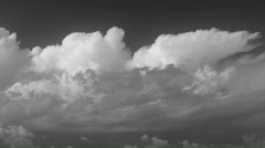 Majestic timelapse clouds. Black & White. Stock Footage