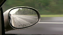 View from the side mirror2 Stock Footage