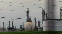 Refinery drive by Stock Footage
