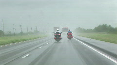 Motorcycles in the storm Stock Footage