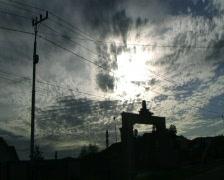 Sun Coming on Bupati Gate Stock Footage