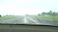 Driving into the storm6 Stock Footage