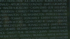 Vietnam War Memorial Wall of Names Zoom Out with Audio Stock Footage