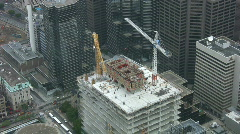 Construction cranes. Timelapse shot. Stock Footage