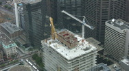 Stock Video Footage of Construction cranes. Timelapse shot.