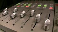 HD audio mixer in uniform lighting Stock Footage