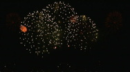 Stock Video Footage of Fireworks Display