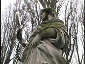 Stock Video Footage of Close Up -  Woman Holding Mirror Statue