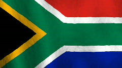 South Africa flag Stock Footage