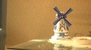 Dutch windmill figurine Stock Footage
