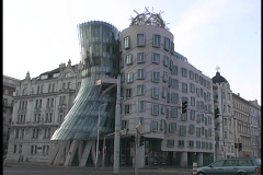 Prague Fred & Ginger Building Stock Footage