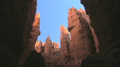 Tourists Walking on the Navajo Trail in Bryce Canyon National Park, Utah - stock footage