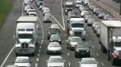 Toronto Highway Vehicles In A Traffic Jam On Highway 401 HD - stock footage