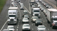 Toronto Highway Vehicles In A Traffic Jam On Highway 401 HD Stock Footage
