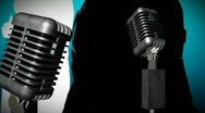 Microphone with Dancer Stock Footage