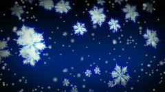 Starglow Snowflakes and snow Stock Footage