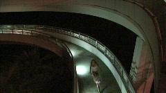 Biker On Spiral Walkway  Stock Footage