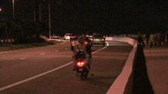Scooter On Bridge Stock Footage