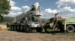 Cement mixer M HD Stock Footage