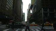 Stock Video Footage of 42nd st traffic 2nd ave new york