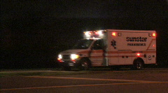 Stock Video Footage of Ambulance At Night