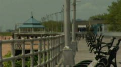 Boardwalk and Bench2 - stock footage