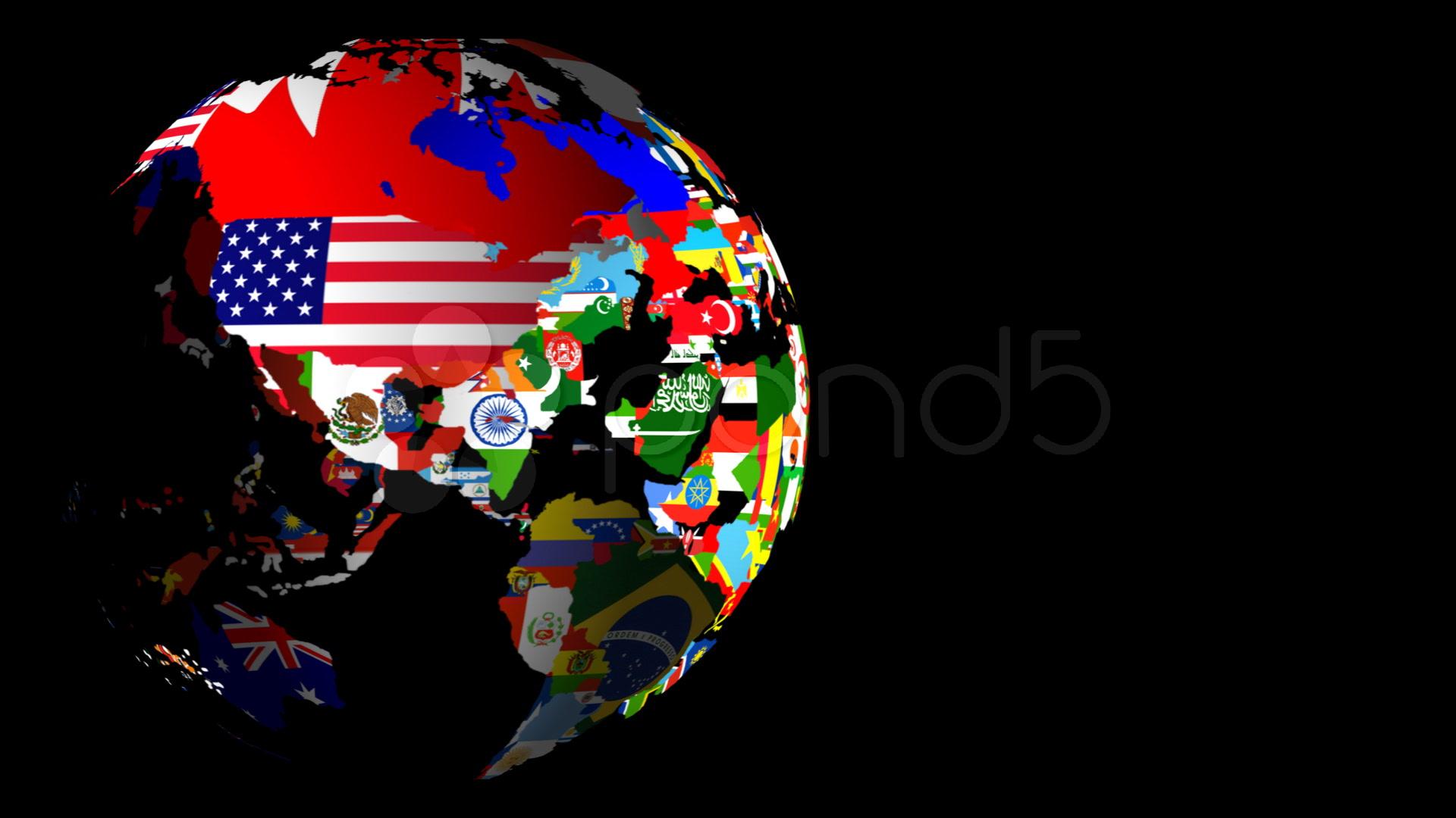 HD Spinning World Flag Globe (Left to Right) Matt & Fill ...