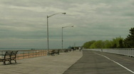 Stock Video Footage of Boardwalk empty beach 3