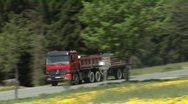Truck passing Stock Footage