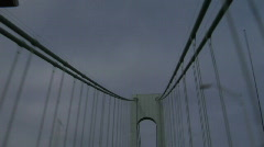 Verrazano Narrows Bridge driving1 - stock footage