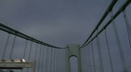 Verrazano Narrows Bridge driving1 Stock Footage