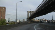 Stock Video Footage of Driving under the Brooklyn Bridge FDR