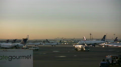 Busy airport Stock Footage