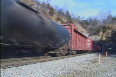 train out of tunnel - stock footage