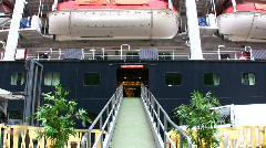 Loading baggage on a cruise liner Stock Footage