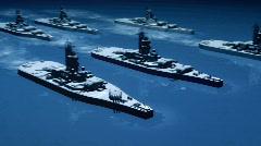Naval warfare (battleships) Stock Footage