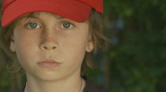 Boy Red Cap Stock Footage