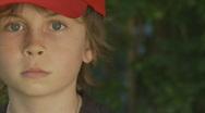 Boy Red Cap Stock Footage