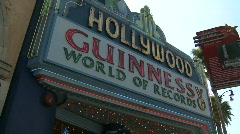Hollywood Guinness Museum Sign Stock Footage
