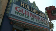 Stock Video Footage of Hollywood Guinness Museum Sign