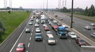 Traffic On A Busy Highway Freeway Stock Footage