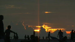 Sunset People 001 (1080i 29.97fps) Stock Footage