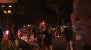 Police In Large Crowd Stock Footage