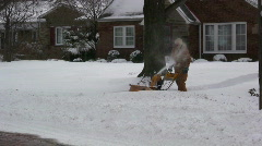 0819-25 - Snow Blower - stock footage