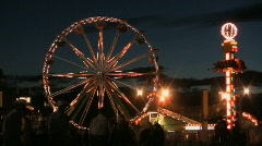 Fair lights-cowboys and others Stock Footage