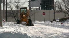 0820-27 - Snow Plow - MOS - stock footage