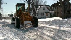 0820-28 - Snow Plow - MOS - stock footage