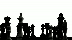 Rotating chessboard - stock footage