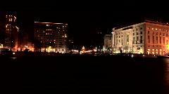 Capitol Building Washington Night-Crash Zoom Stock Footage